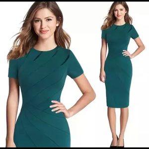 Dresses & Skirts - Green asymmetric bandage dress